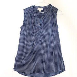 Kenar- Navy Blue print Sleeveless Top
